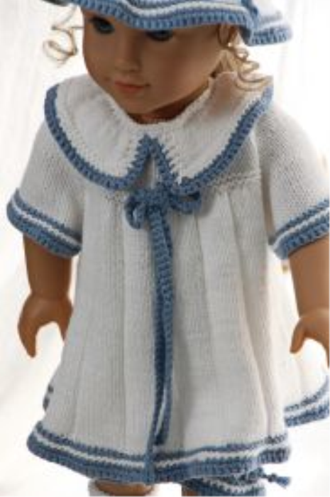 First Additional product image for - DollKnittingPattern 0149D SOPHIA (May) - Sweater, cap, pants and socks-(English)