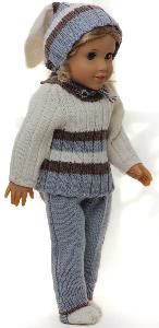 dollknittingpattern 0149d sophia (may) - sweater, cap, pants and socks-(english)