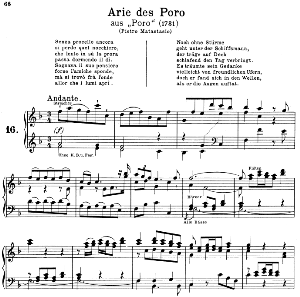 Senza procelle ancora: Contralto Aria (Poro) in F Major (original key). G.F.Haendel. Poro HWV 28, Vocal Score, Ed. Peters, Gesange für eine frauenstimme, Ed. H. Roth (1915). 6pp. Italian. (A4 portrait)   eBooks   Sheet Music