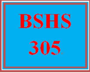 bshs 305 week 3 case scenario