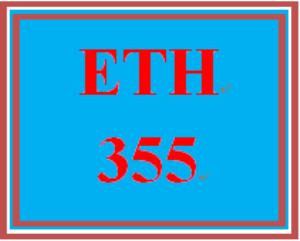 ETH 355 Week 3 Weekly Reflection | eBooks | Education