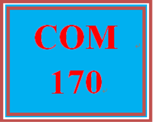 COM 170 Week 4 Composition | eBooks | Education
