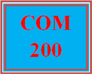 COM 200 Week 2 Introductory Interview | eBooks | Education