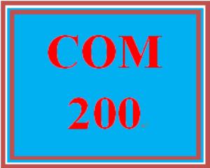 COM 200 Entire Course | eBooks | Education
