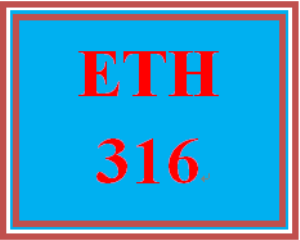 ETH 316 Week 1 Ethics Essay | eBooks | Education