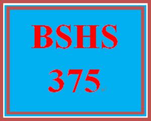 BSHS 375 Week 2 Database – Demographic Information | eBooks | Education