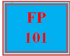 FP 101 Week 9 Final Exam | eBooks | Education