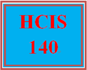 hcis 140 week 2 weekly summary