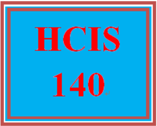 First Additional product image for - HCIS 140 Entire Course
