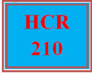 HCR 210 Entire Course | eBooks | Education