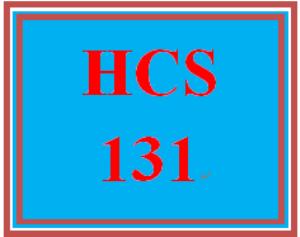 HCS 131 Week 3 Weekly Summary | eBooks | Education