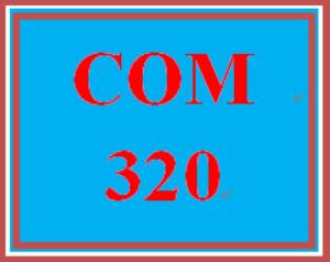 COM 320 Week 1 Learning Team Charter   eBooks   Education