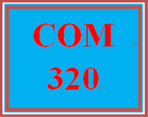 COM 320 Week 2 Journal or Quiz | eBooks | Education