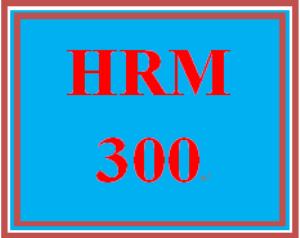 hrm 300 week 1 human resource management overview