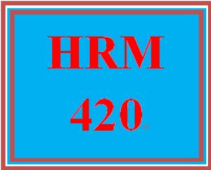 HRM 420 Week 1 Human Resource Risk Seminars (Appendix A) | eBooks | Education