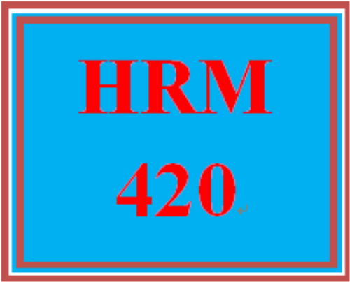 First Additional product image for - HRM 420 Entire Course