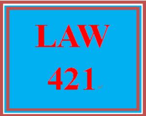 LAW 421 Week 2 Weekly Reflection | eBooks | Education