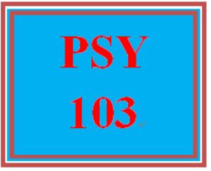 PSY 103 Week 1 Origins of Psychology and Research Methods Worksheet | eBooks | Education