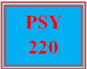 PSY 220 Week 3 Goal Selection | eBooks | Education