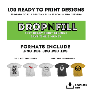 ryoart drop-n-fill vector collection 2 - 100 t-shirt designs