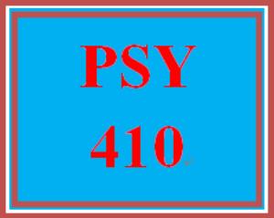 PSY 410 Week 1 Week One Assignment Worksheet | eBooks | Education
