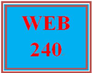 web 240 week 2 individual: virtual organization project, part 1