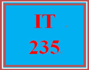 IT 235 Week 9 Capstone Question | eBooks | Education