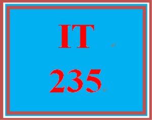 IT 235 Week 9 Analysis Project | eBooks | Education