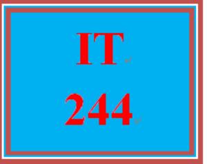 IT 244 Entire Course   eBooks   Education