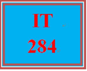 IT 284 Entire Course | eBooks | Education