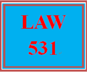 law 531 week 6 knowledge check