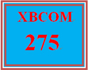 XBCOM 275 Week 9 Capstone Discussion Question | eBooks | Education