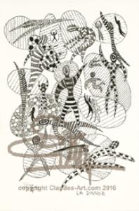 "claude's art:  dessin # 15s ""la danse"" hd"
