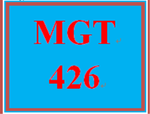 mgt 426 week 2 roles of managers and individuals paper