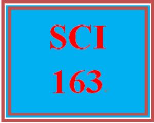 SCI 163 Entire Course | eBooks | Education