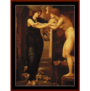 the godhead fires, 1870 - burne-jones cross stitch pattern by cross stitch collectibles