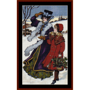 Vintage Carolers - Christmas cross stitch pattern by Cross Stitch Collectibles | Crafting | Cross-Stitch | Other