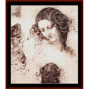 head of leda - raphael cross stitch pattern by cross stitch collectibles