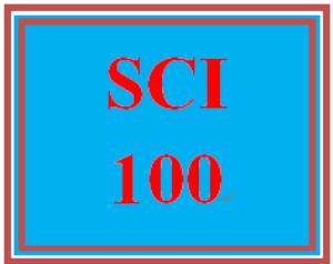 SCI 100 Entire Course   eBooks   Education