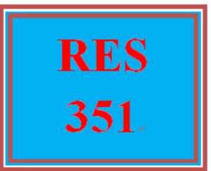 RES 351 Week 2 Quiz 1 | eBooks | Education