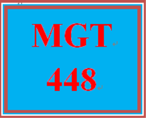 MGT 448 Week 4 Case Study | eBooks | Education