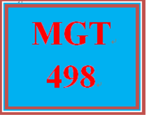 MGT 498 Week 2 Individual Ethics Paper | eBooks | Education