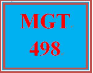 MGT 498 Week 5 Learning Team Log | eBooks | Education