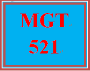 MGT 521 Week 5 Learning Team Reflection | eBooks | Education