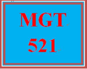 MGT 521 Week 6 Learning Team Reflection | eBooks | Education