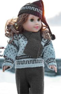 DollKnittingPattern  0053D ANDERS - Sweater, Scarf, Pant, Sport socks and Hat-(English) | Crafting | Knitting | Other