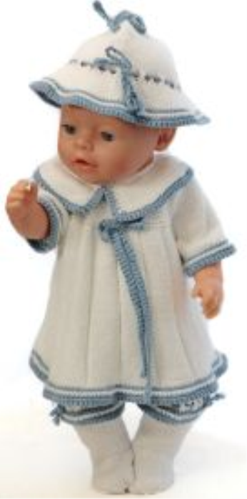 First Additional product image for - DollKnittingPatterns 0150D SOPHIA (Juni) - Genser, lue, bukse og sokker-(Norsk)