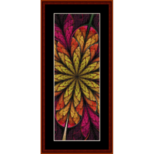 fractal 567 bookmark cross stitch pattern by cross stitch collectibles