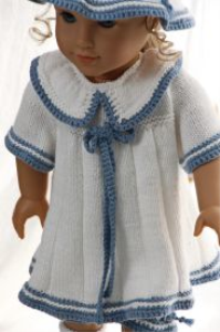 dollknittingpattern 0150d sophia (june) - dress, pants, hat and socks-(english)