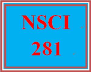 NSCI 281 Week 1 Week One Quiz | eBooks | Education